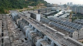 Luftaufnahme einer Baustelle stock video footage