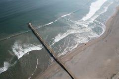 Luftaufnahme eines alten Piers Lizenzfreies Stockbild