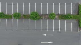 Luftaufnahme eines leeren Parkplatzes Lizenzfreie Stockbilder