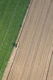 Luftaufnahme: getrennte Mähdrescherfunktion Lizenzfreie Stockfotos