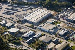 Luftaufnahme: Industriegebiet Lizenzfreie Stockfotografie