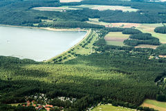 Luftaufnahme/Luftfoto Lizenzfreies Stockfoto