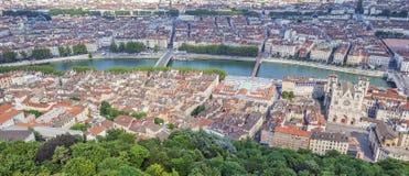 Luftaufnahme in Lyon Stockbild