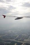 Luftaufnahme vom Flugzeug Stockbild