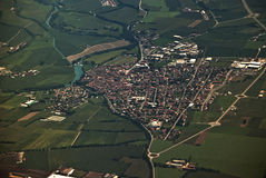 Luftaufnahme vom Flugzeug Lizenzfreie Stockfotos