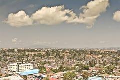 Luftaufnahme von Addis Abeba Lizenzfreie Stockfotografie