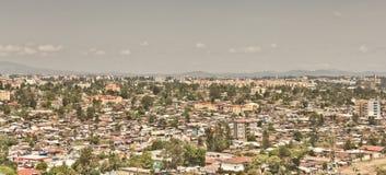 Luftaufnahme von Addis Abeba Stockbilder