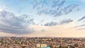 Luftaufnahme von Addis Abeba Stockfotografie