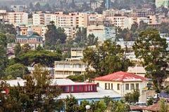 Luftaufnahme von Addis Abeba Lizenzfreies Stockbild
