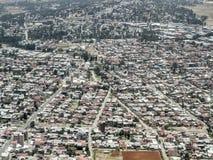 Luftaufnahme von Addis Abeba Lizenzfreie Stockfotos