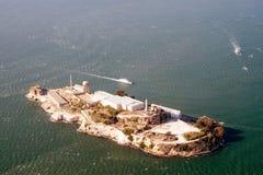 Luftaufnahme von Alcatraz Stockfoto
