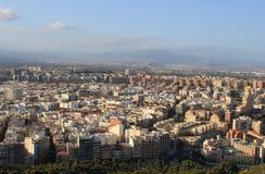 Luftaufnahme von Alicante Stockfotografie
