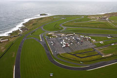 Luftaufnahme von Anglesey Stockfoto