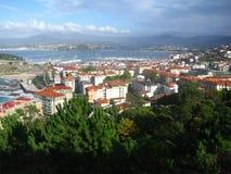 Luftaufnahme von Baiona, Spanien Lizenzfreies Stockfoto