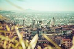 Luftaufnahme von Bergamo Stockfotografie