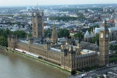 Luftaufnahme von Big Ben Lizenzfreies Stockfoto