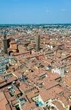 Luftaufnahme von Bologna, Italien lizenzfreie stockfotos