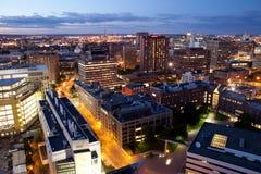 Luftaufnahme von Cambridge und von Boston lizenzfreie stockfotografie