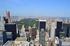 Luftaufnahme von Central Park Lizenzfreies Stockfoto