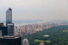 Luftaufnahme von Central Park lizenzfreies stockbild