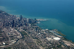 Luftaufnahme von Chicago Lizenzfreie Stockbilder