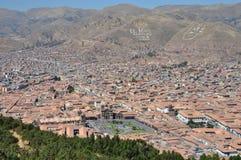 Luftaufnahme von Cuzco Stockfotografie