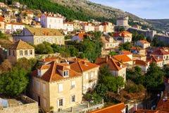 Luftaufnahme von Dubrovnik kroatien stockbilder