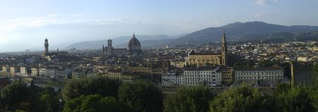 Luftaufnahme von Florenz stockfotografie