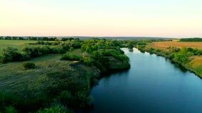 Luftaufnahme von Fluss stock footage