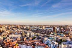 Luftaufnahme von Hamburg lizenzfreie stockfotografie