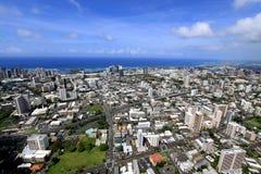 Luftaufnahme von Honolulu stockbilder