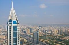 Luftaufnahme von im Stadtzentrum gelegenem Dubai Stockbild