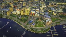 Luftaufnahme von im Stadtzentrum gelegenem West Palm Beach Stockfoto