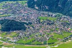 Luftaufnahme von Interlaken, die Schweiz Stockfotografie