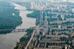 Luftaufnahme von Kiew stockfoto