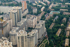Luftaufnahme von Kiew stockbilder