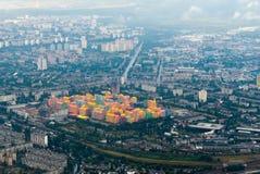 Luftaufnahme von Kiew lizenzfreie stockfotos
