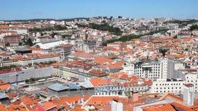 Luftaufnahme von Lissabon stock footage