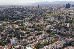Luftaufnahme von Mexiko City Lizenzfreie Stockfotografie