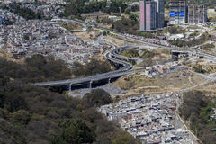 Luftaufnahme von Mexiko City Stockbild