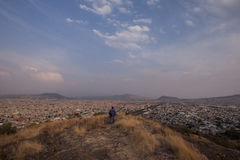 Luftaufnahme von Mexiko City Stockfotografie