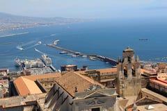 Luftaufnahme von Neapel-Stadt Stockfotografie