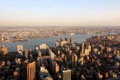 Luftaufnahme von New York stockfotos
