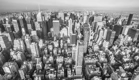 Luftaufnahme von New York City Stockfotos
