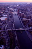 Luftaufnahme von New York City lizenzfreie stockfotos