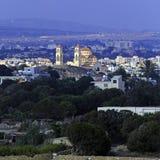 Luftaufnahme von Paphos, Zypern Stockbild