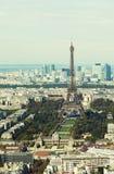 Luftaufnahme von Paris stockfotos