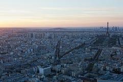 Luftaufnahme von Paris lizenzfreies stockfoto