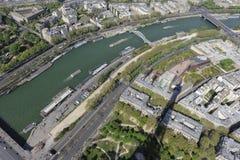 Luftaufnahme von Paris vom Eiffelturm stockfotos