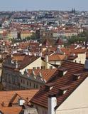 Luftaufnahme von Prag Stockbild